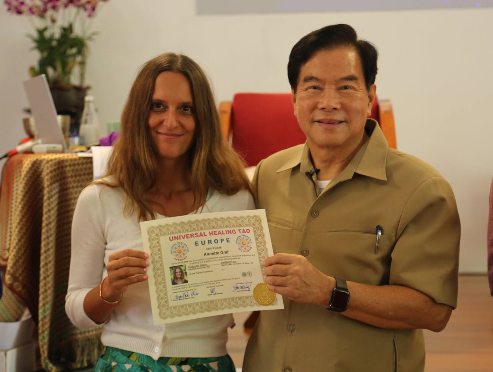 Certification Tao Garden Annette and Master Mantak Chia