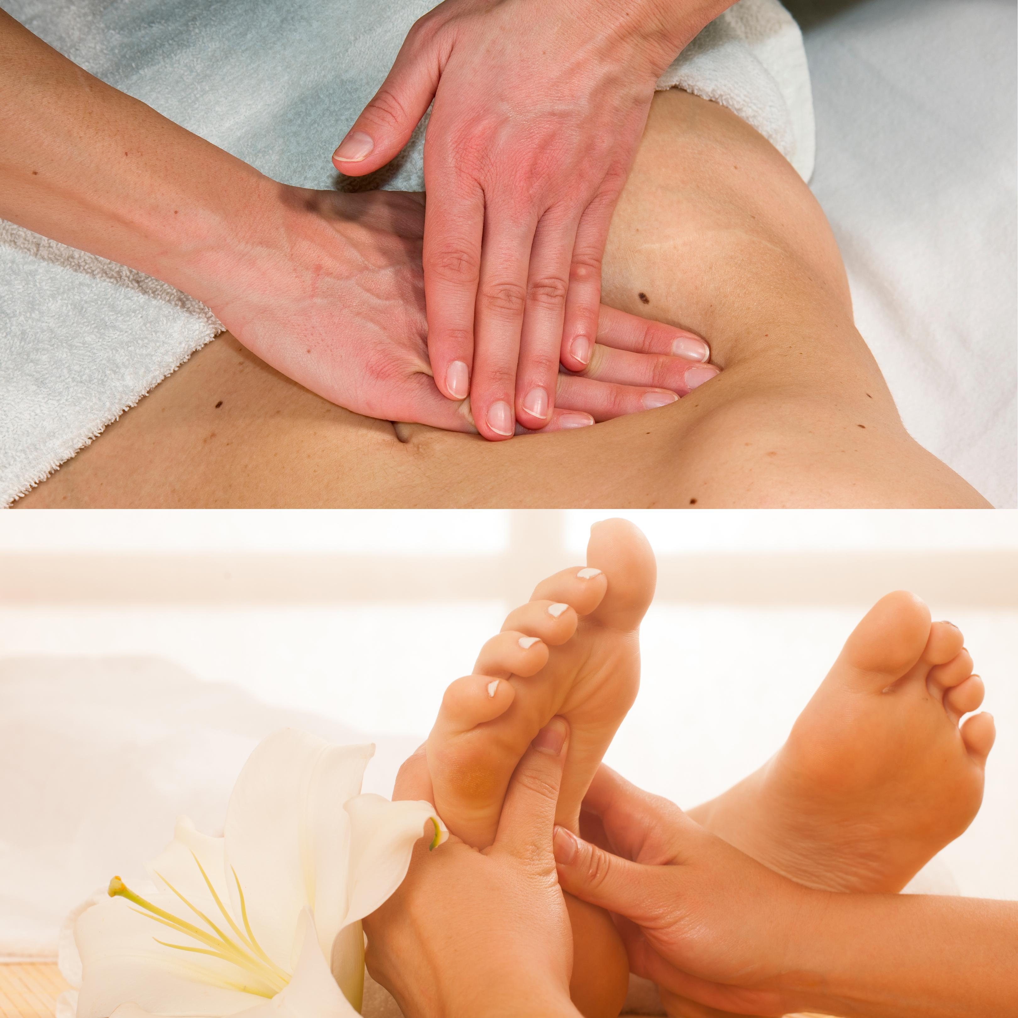 Bauch- und Fußmassagen Kombi