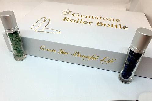 Gemstone roller ball set