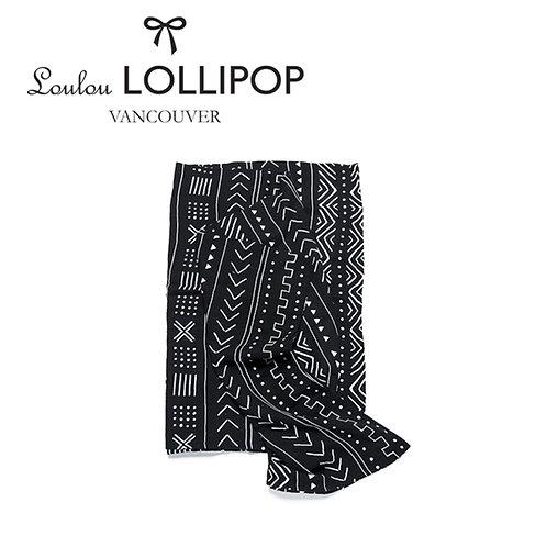 Loulou Lollipop┃竹纖維透氣包巾 - 黑色簡約風