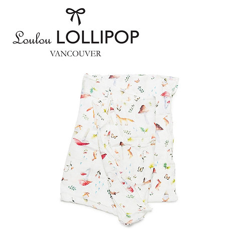 Loulou Lollipop┃竹纖維透氣包巾 - 森林小動物