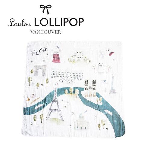 Loulou Lollipop┃竹纖維透氣包巾 - 法國巴黎