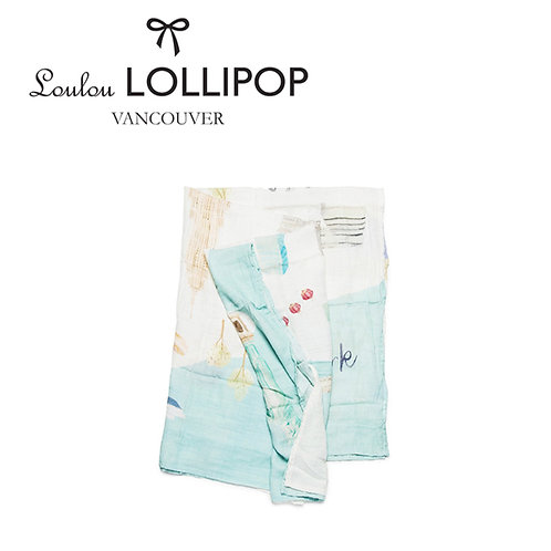 Loulou Lollipop┃竹纖維透氣包巾 - 美國紐約