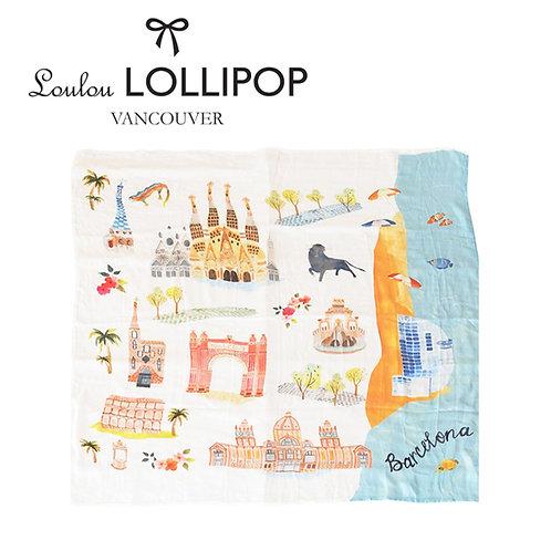 Loulou Lollipop┃竹纖維透氣包巾 - 西班牙巴塞隆納