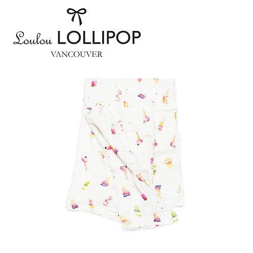 Loulou Lollipop┃竹纖維透氣包巾 - 甜甜冰淇淋