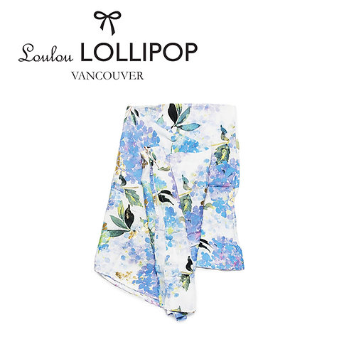 Loulou Lollipop┃竹纖維透氣包巾 - 紫色繡球花