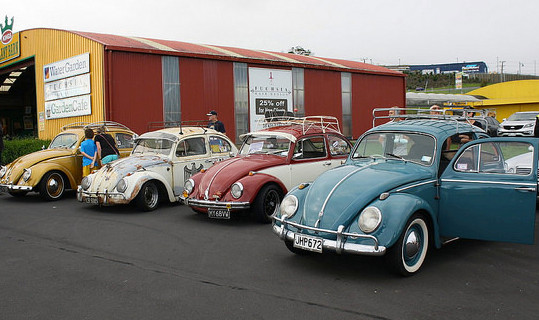 A cavalcade of Volkswagens