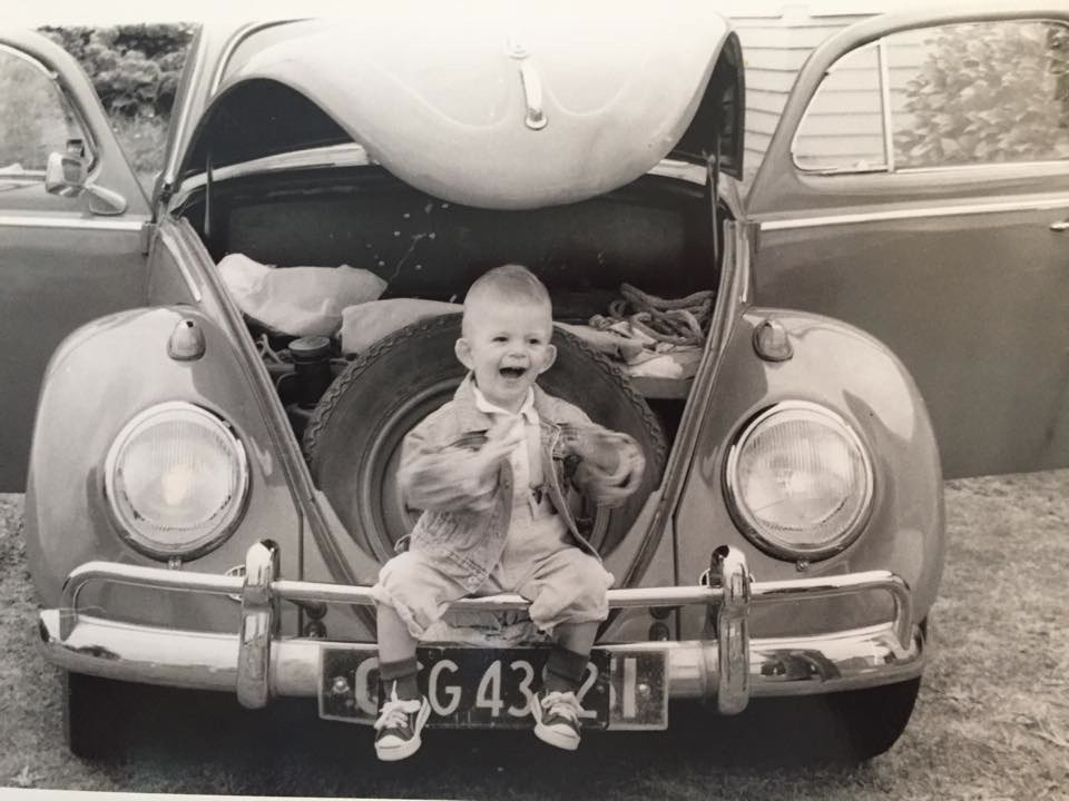 Grandson Tahni in the Beetle many years ago!
