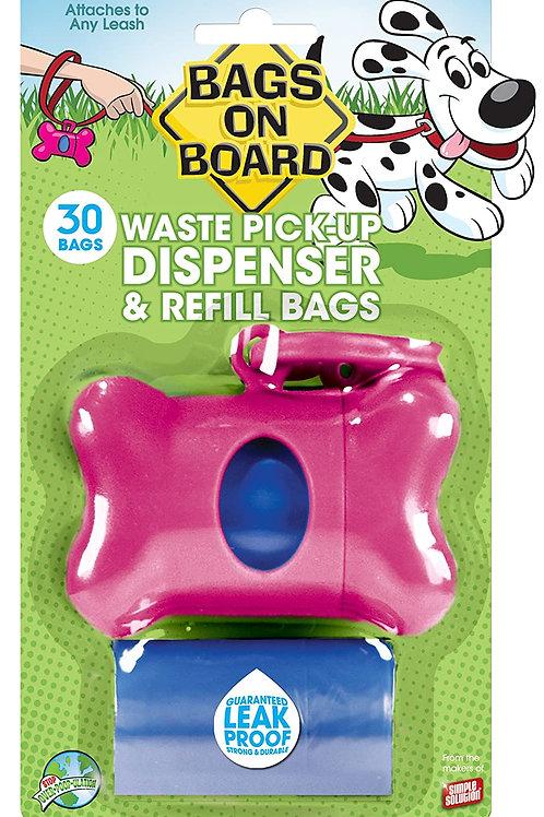 Pink Bone/ Waste Pick-Up Dispenser & Refill Bags