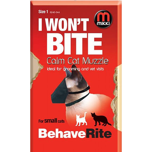 Mikki I won't Bite Calm Cat Muzzle - Size 1
