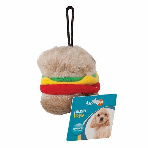 Aspen Pet Hamburger Plush Toy