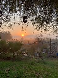 Sunrise on camp!