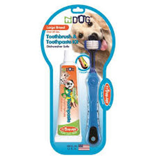 EZ Dog Large Breed Toothbrush & Toothpaste