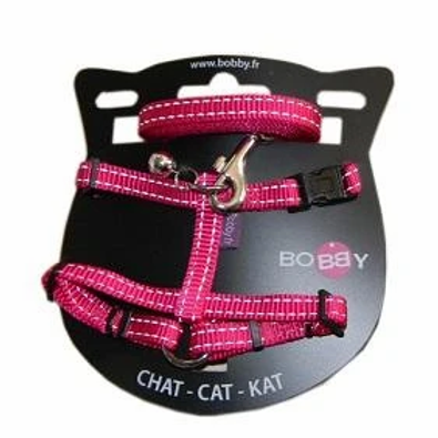 Bobby Cat Harness & Lead - Pink