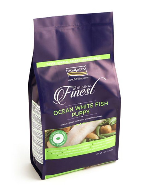 Fish4Dogs Ocean White Fish Puppy Small Kibble 1.5kg