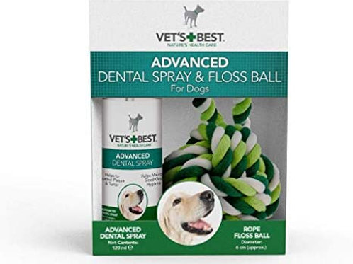 Vets Best Advanced Dental Spray & Floss Ball