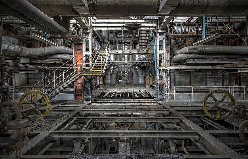 Demir Fabrikası İç Mekan Duvar Kağıtları | 3 Boyutlu Bilecik Duvar Kağıdı