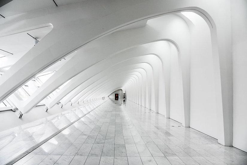 HD Beyaz Tünel Duvar Kağıtları | 3 Boyutlu Derinlik Duvar Kağıtları