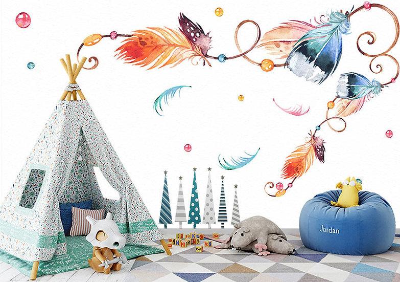 Çocuk Odası İçin  3D Duvar Kağıtları | Dekorasyon Duvar Kağıdı Çeşitleri