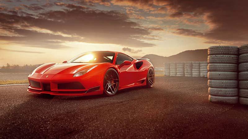 Ferrari 488 Duvar Kağıdı | 3 Boyutlu Arabası Duvar Kağıdı Çeşitleri | İstanbul