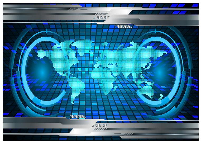 3 Boyutlu Elektronik Dünya Duvar Kağıtları | Nevşehir Duvar Kağıdı Çeşitleri
