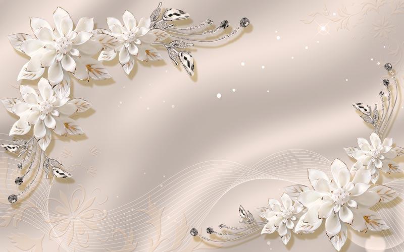 Çiçek Desenli LCD Duvar Kağıtları | Üç Boyutlu Duvar Kağıtları | İzmir