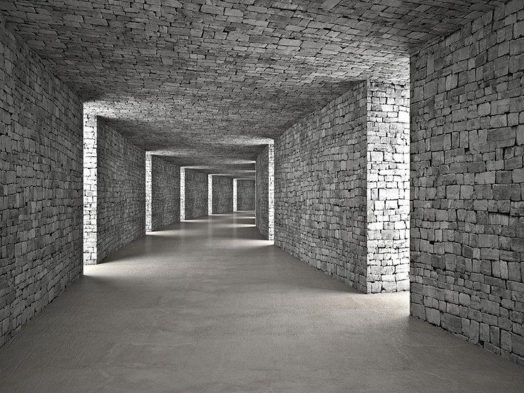 Tünel Taş Modeli Duvar Kaplamaları | 3 Boyutlu Okul İçi Taş Duvar Kağıtları