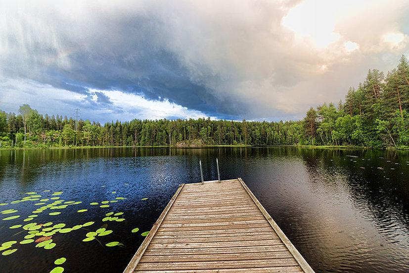 Üç Boyutlu Göl Yansıma Duvar Kağıtları | En Ucuz Nehir Duvar Kağıtları | Çeşme