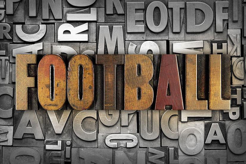 Futbol Kulübü Duvar Kağıtları | 3 Boyutlu Kabartmalı Yazı Duvar Kağıtları