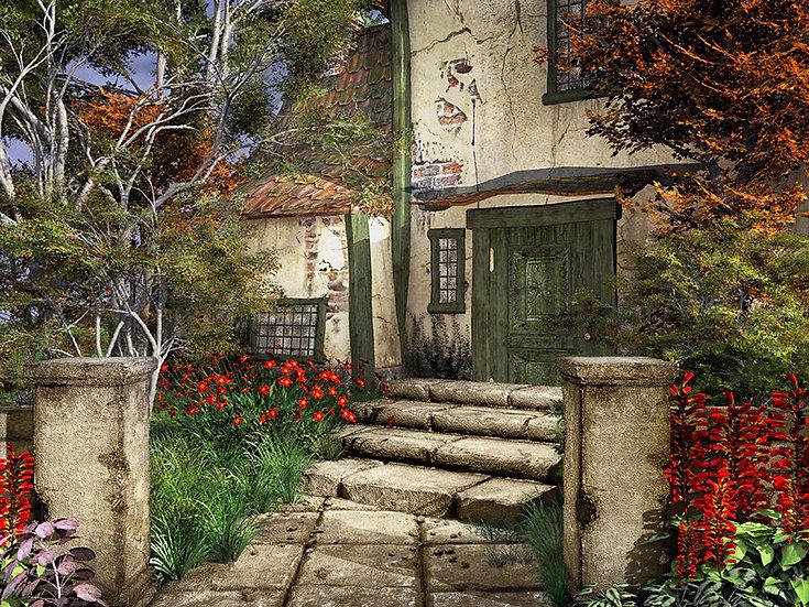 Köy Evi Manzara Duvar Kağıtları | Gerçek 3 Boyut Duvar Kağıtları | İstanbul