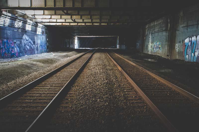 Tünel Duvar Kağıdı Çeşitleri   3D Tren İstasyonu Duvar Kağıtlari