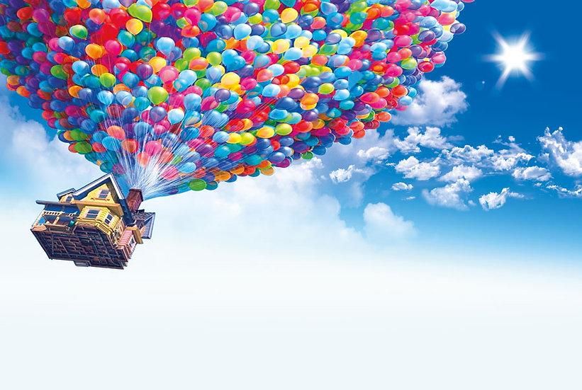 3D Uçan Balon ve Ev Duvar Kağıtları | Ev Duvar Kağıdı | İngiltere