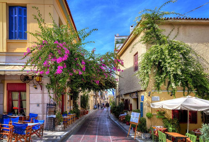 Tatil Şehri Duvar Kağıtları | 3 Boyutlu Çiçekli Sokak Duvar Kağıdı | Fransa