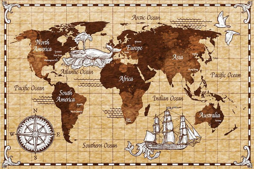 Eski Tarihi Savaş Haritası Duvar Kağıtları | 3D Bursa Poster Duvar Kağıdı