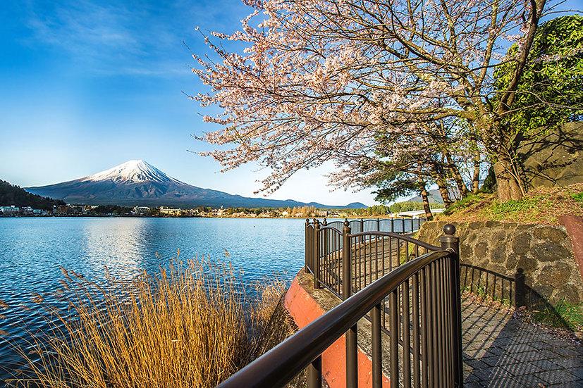 Yamanshi Dağları Manzara Duvar Kağıtları | 3 Boyutlu Japonya Duvar Kağıdı