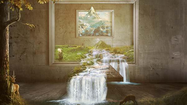 3 Boyutlu Banyo İçi Duvar Kağıtları | En Ucuz Çeşme Duvar Kağıtları | İzmit