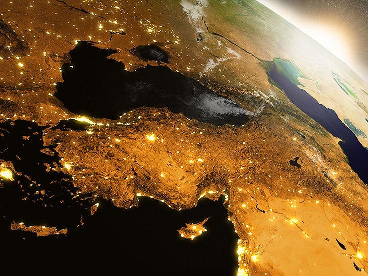 Altın Dünya Figürü Duvar Kağıtları | Üç Boyutlu Altın Harita Duvar Kağıdı