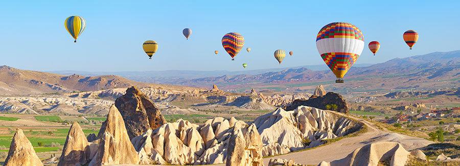 Duvar Kağıtları Uçan Balon | 3 Boyutlu Duvar Kağıtları Kapadokya Dağ Manzara