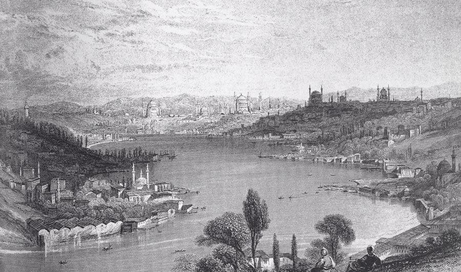 İstanbul Siyah Foto Duvar Kağıtları | 3 Boyutlu Kabartmalı Duvar Kağıtları