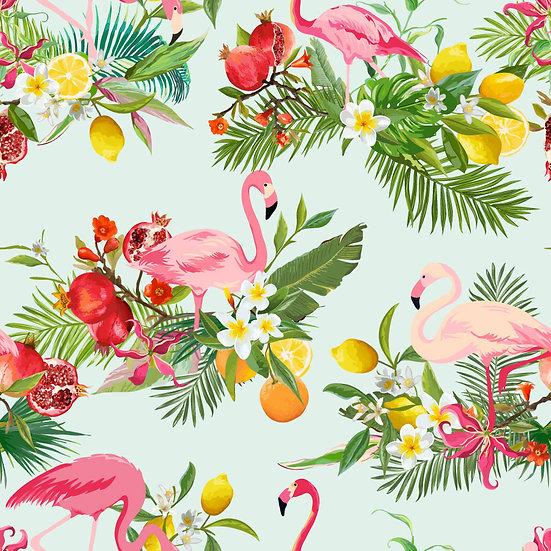 Dokulu Flamingo Kaplama Duvar Kağıtları | 3D İzmir Poster Duvar Kağıdı