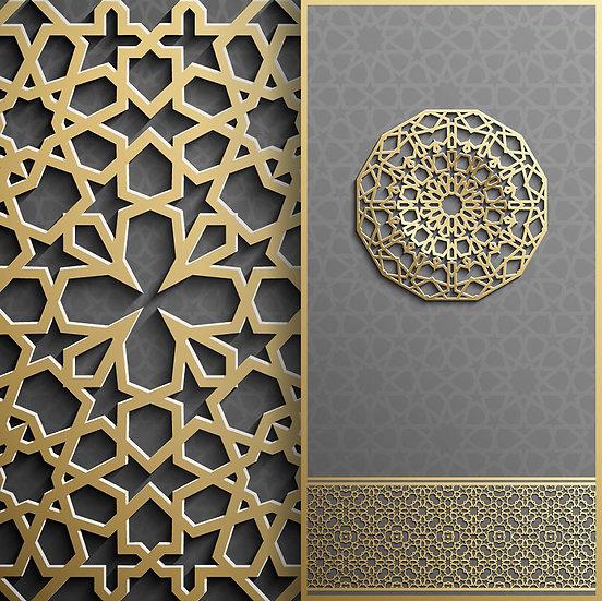 Bizans Mimarisi Duvar Kağıtları | Üç Boyutlu Selçuklu Motifler Duvar Kağıtları
