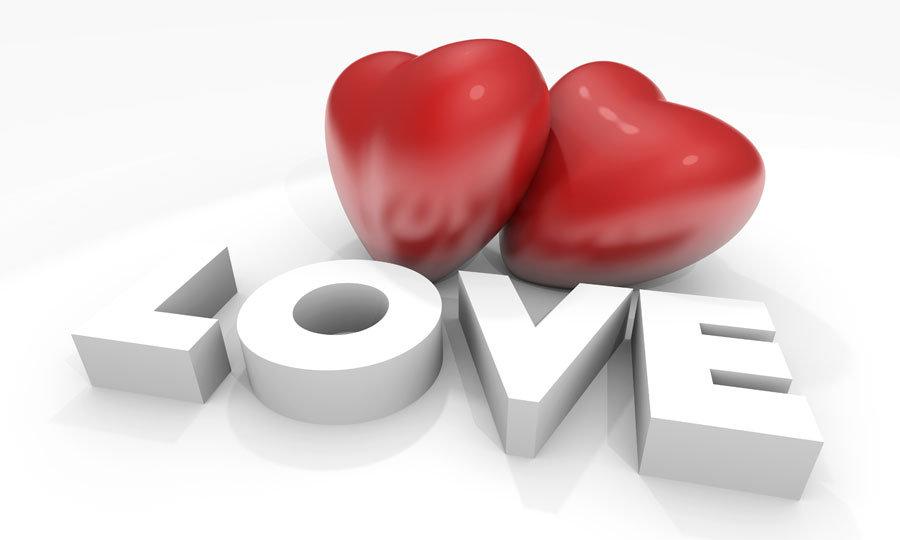 Yeni Aşklar İçin Duvar Kağıdı | Kabartmalı Love Duvar Kağıdı | Duvar34.com