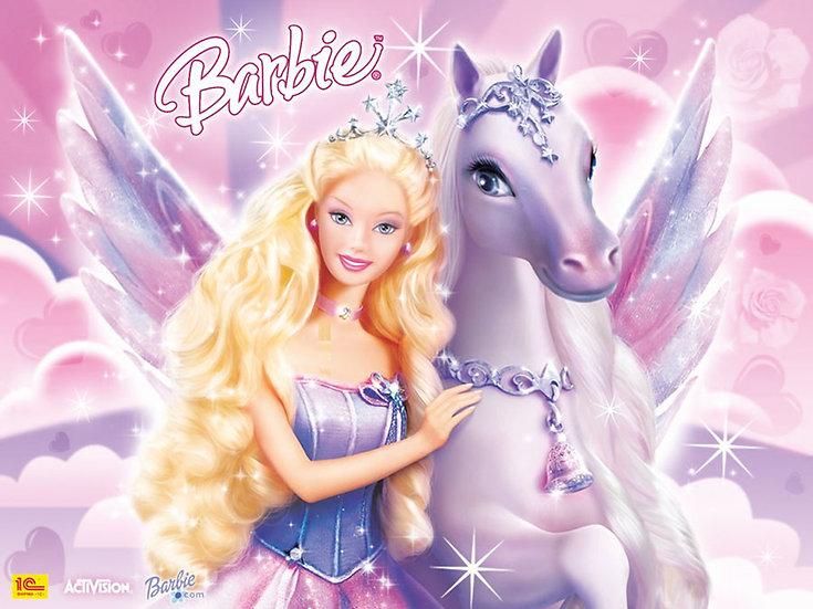 Barbie Bebek ve Atı Duvar Kağıtları   3 Boyutlu Bebek Duvar Kağıtları
