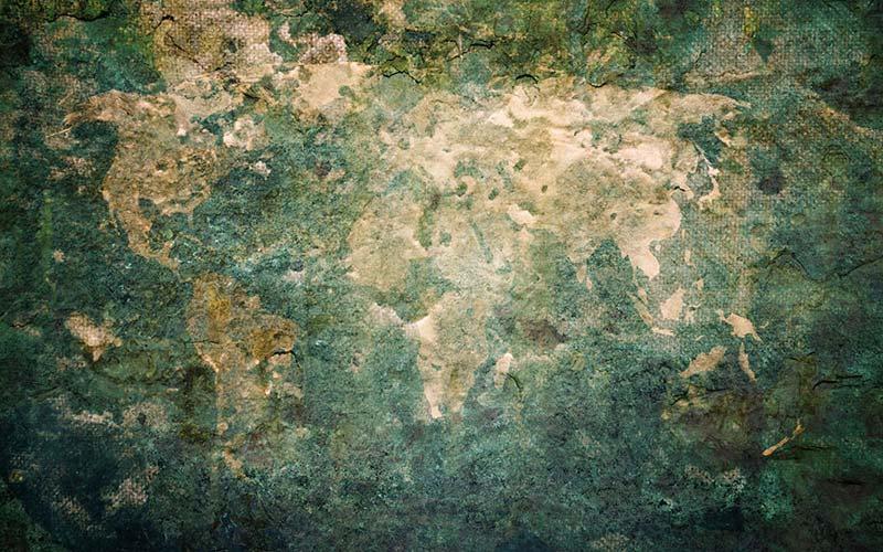 Yeşil Beton Duvar Kağıdı | Taş - Tuğla Görünümlü Duvar Kağıtları | İstanbul