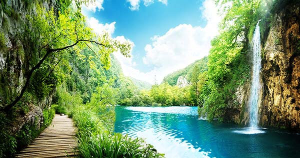 Efsane Doğa Manzara Duvar Kağıtları | HD Kaliteli Şelale Duvar Kağıdı
