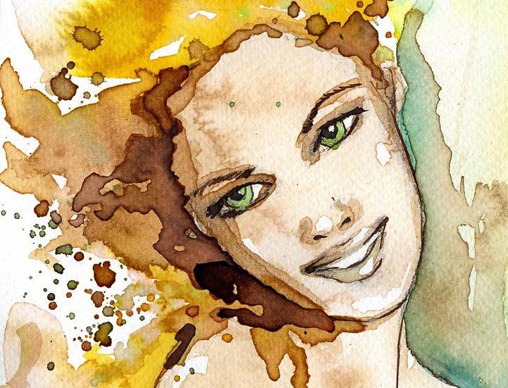 Fashion Art Paneli Duvar Kağıdı | Suluboya ve Estetik Duvar Kağıdı | Duvar34.com
