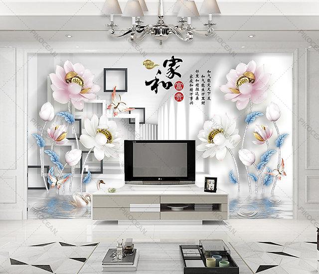 Oturma Odası Duvar Kağıtları | 3d Kabartmalı Tv Arka Plan Duvar Kağıtları