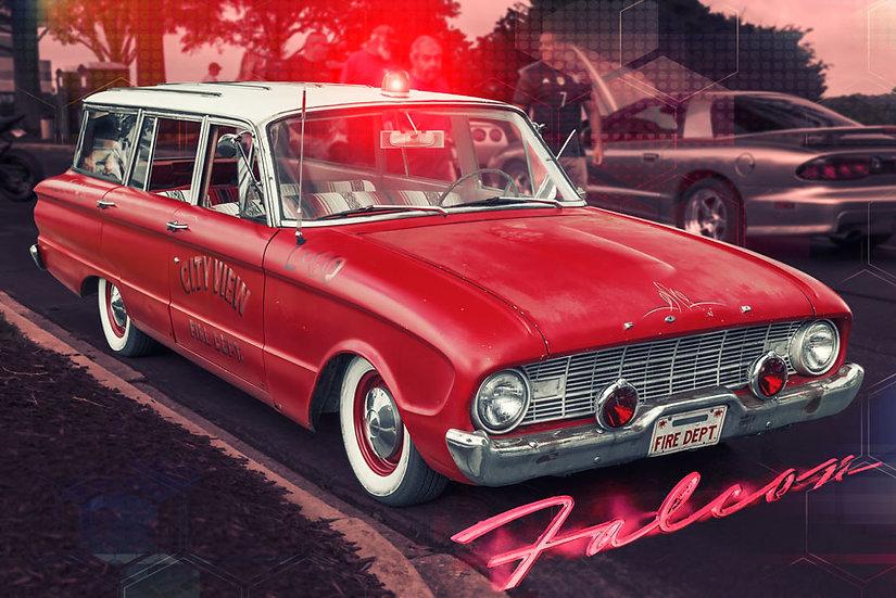 1958 Ford Ambulans Duvar Kağıtları | 3 Boyutlu Klasik Ford Araba Duvar Kağıtları
