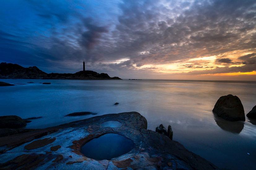 Kabartmalı Deniz Feneri Duvar Kağıtları | HD Turuncu Gökyüzü Duvar Kağıtları