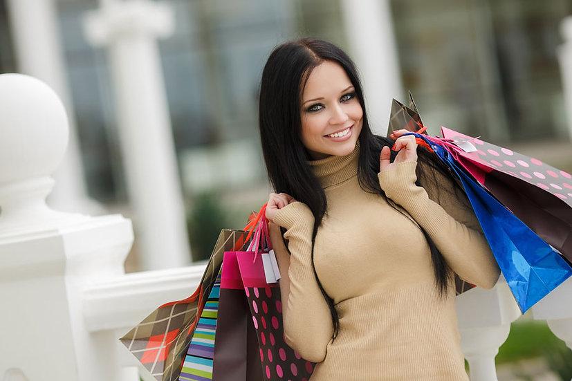 Moda Giyim Kombinleri Duvar Kaplamaları | 3 Boyutlu Alışveriş Duvar Kağıdı